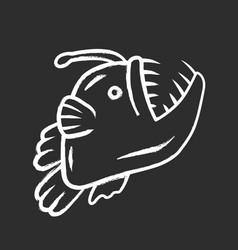 Anglerfish chalk icon swimming goosefish vector