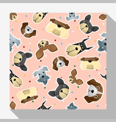 Animal seamless pattern collection with dog 1 vector