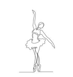 ballerina in motion vector image