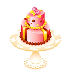 big decorated cake vector image