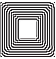 black and white optical art background vector image