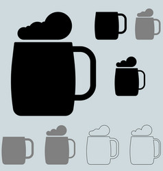 black brewer bocal or brewer mug vector image