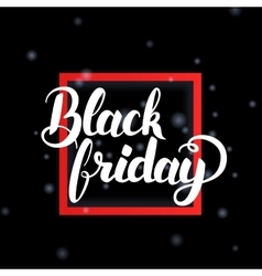 Black Friday in Frame vector image