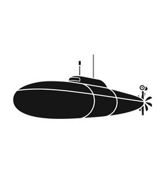 black military submarineboat for swimming under vector image