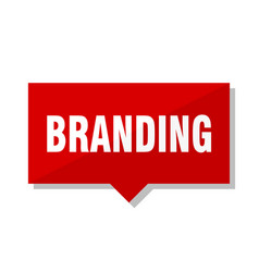 Branding red tag vector