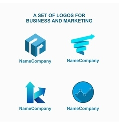 Business logo template vector image
