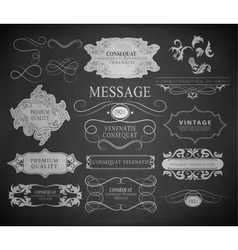 Calligraphic design elements page decoration vector
