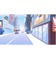 city street cartoon modern vector image