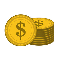 coins stacked symbol vector image