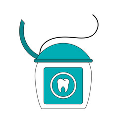 Color image cartoon dental floss for oral health vector