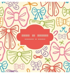 colorful bows frame seamless pattern background vector image