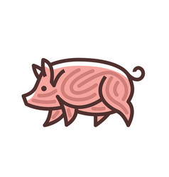 colorful stylized drawing of pig vector image