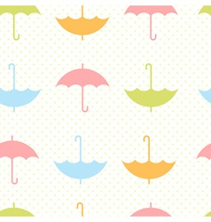 Cute autumn seamless pattern with umbrellas vector image