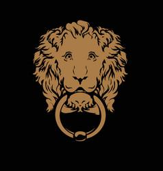 door ring in form a head lion vector image