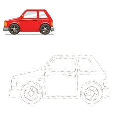 Draw car educational game vector image