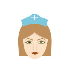 Face nurce icon image vector