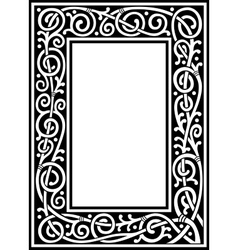 Fancy frame vector