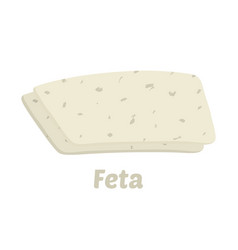 feta cheese pieces cartoon flat style vector image