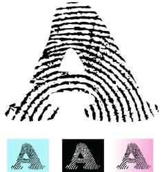 Fingerprint Alphabet Letter A vector image