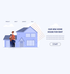 flat banner is written our new home house for rent vector image