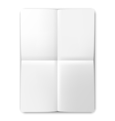 Folded List of White Paper vector image vector image