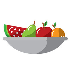 Fruit bowl icon image vector