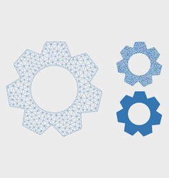 Gear mesh wire frame model and triangle vector
