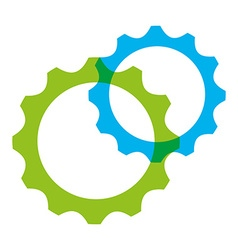 Gears settings vector