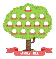 Genealogy family tree son daughter father mother vector