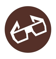 Glasses film 3d movie icon vector