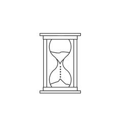 hourglass line icon clock icon premium quality vector image