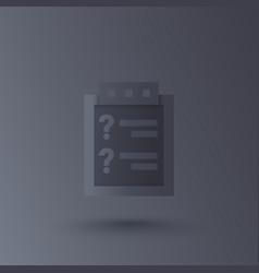 Inquiry icon vector