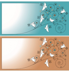 invitation with birds vector image