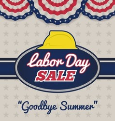 Labor day sale promotion advertising badge labels vector image