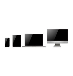 laptop realistic device in mockup style set vector image