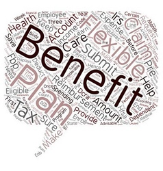 Learn the tax benefits of a Flexible benefits Plan vector image