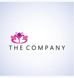Lotus logo ideas design vector