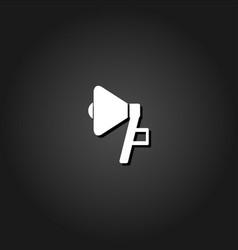megaphone icon flat vector image