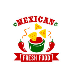 mexican food restaurant menu icon vector image