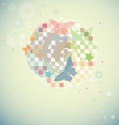 Modern Swirly Background with Abstract Shapes and vector image