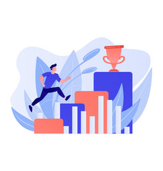 On way to success concept vector