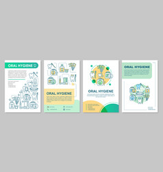 Oral hygiene brochure template layout vector