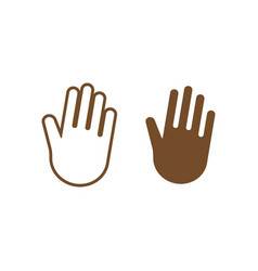 palm hand icon design template isolated vector image