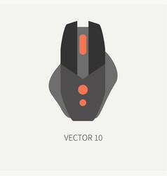 Plain flat color computer part icon mouse vector