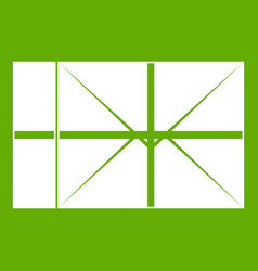 postal parcel icon green vector image