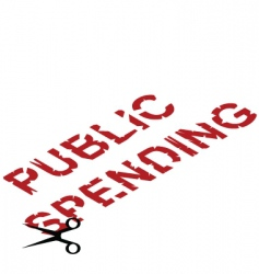 public spending cuts vector image
