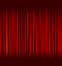 red curtain for stage seamless texture vector image