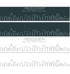 rio de janeiro single line skyline banner vector image