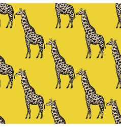 Seamless background with giraffe vector