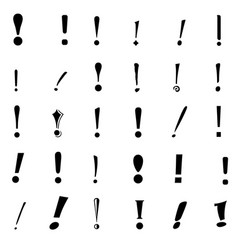 set exclamation mark vector image